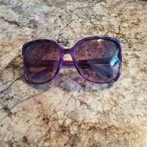Accessories - Oversized sunglasses- purple and black